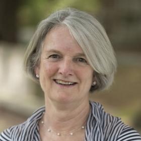 Portrait of Georgia Murphy Johnson '75, president of WCAA