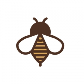 Illustration of a cute bee