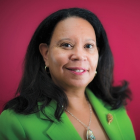 Portrait of Sheilah Shaw Horton, Wellesley's new dean of students
