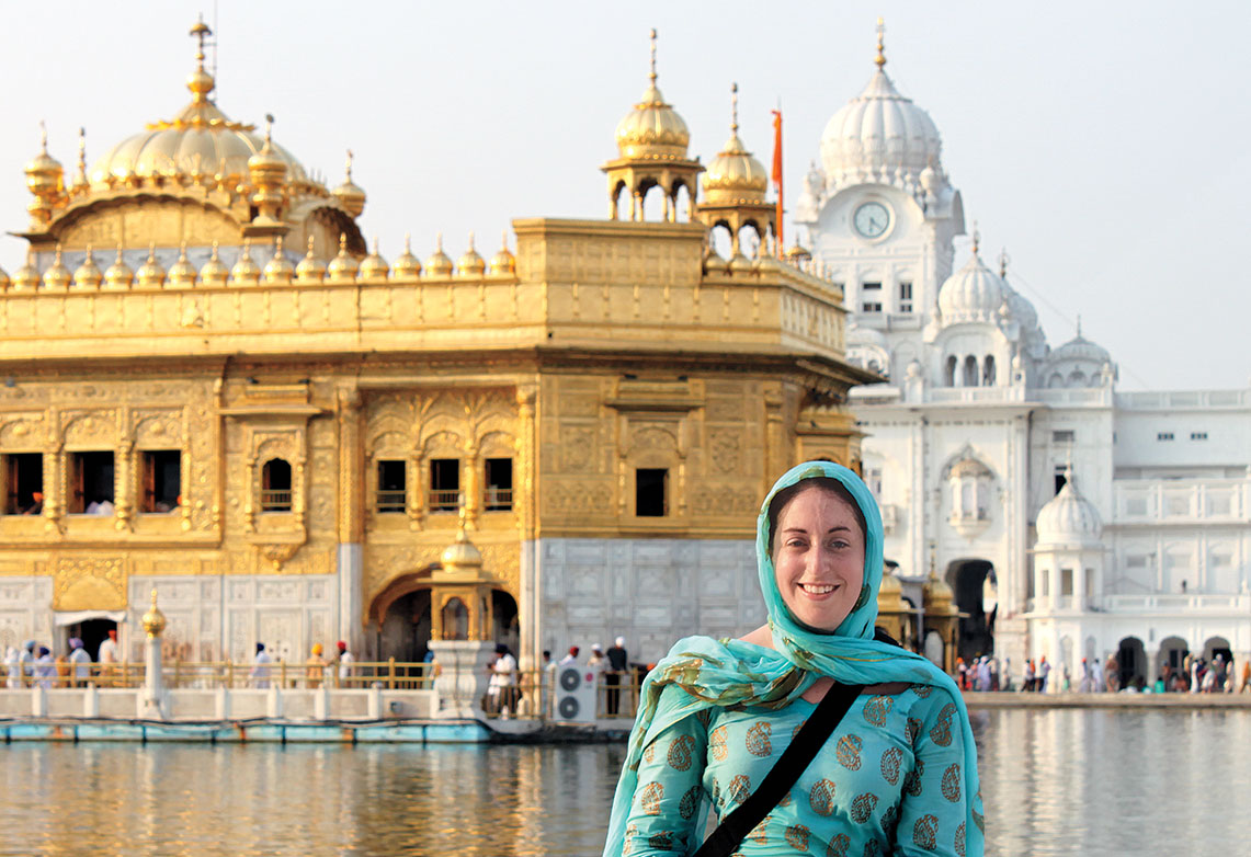 While serving in the Foreign Service in Pakistan, political-military officer Jessica Berlow '03 visited the Golden Temple in Amritsar, India.