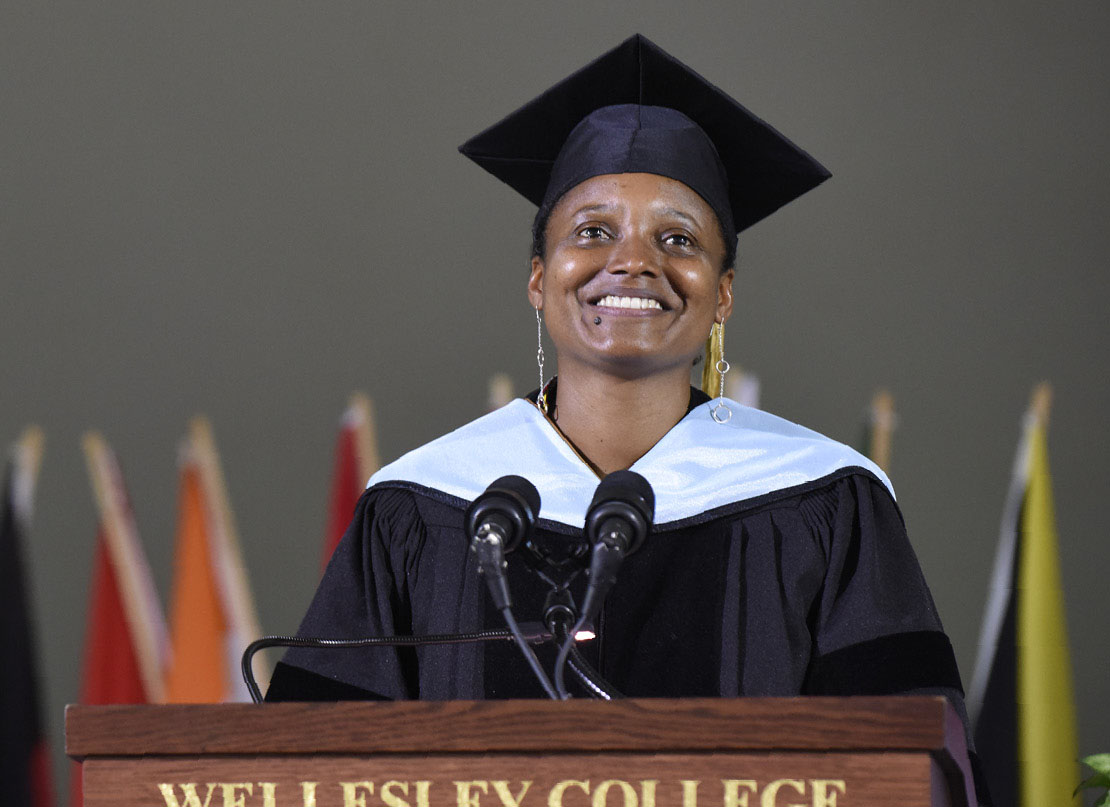 A photo of Poet Laureate Tracy K. Smith, featured speak at Commencement.