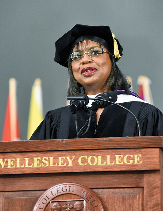 Anita Hill delivers the commencement address
