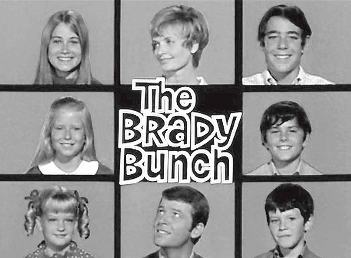 The opening credits of The Brady Bunch.