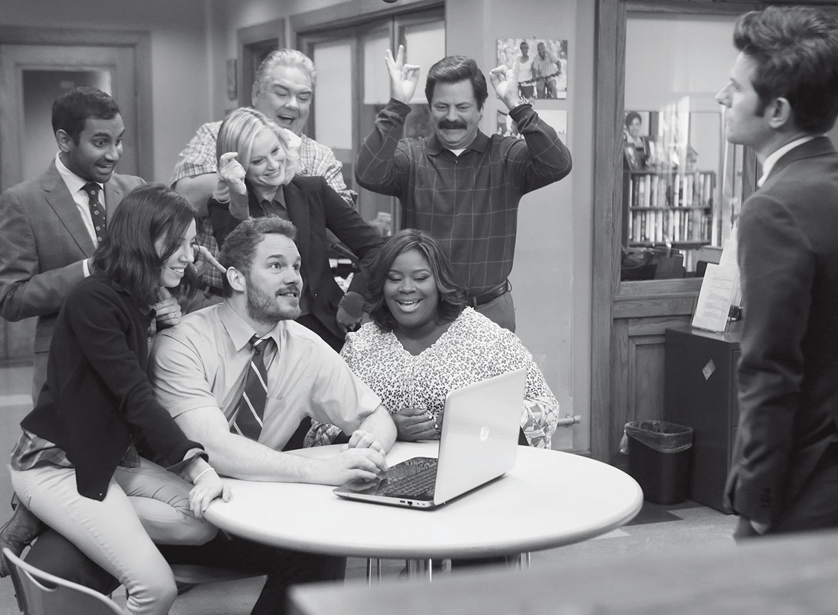 A new website is unveiled for the town of Pawnee, Ind., in an episode of Parks and Recreation.