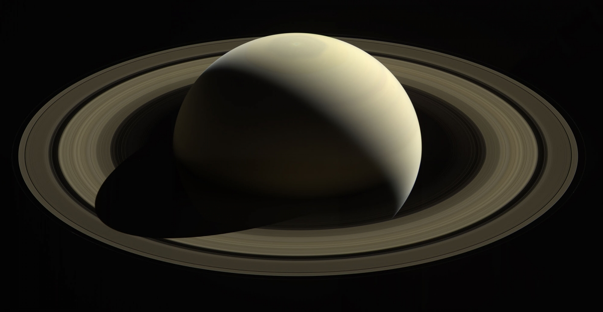 With this view, taken on Oct. 28, 2016, Cassini captured one of its last looks at Saturn and its main rings from a distance.