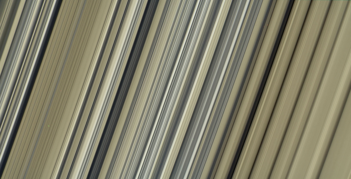 This is one of the highest-resolution color images of any part of Saturn's rings, to date, showing a portion of the inner-central part of the planet's B Ring.