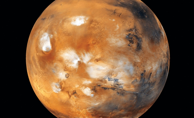 Blue on the Red Planet