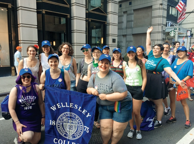 Alumnae at the 2017 New York City Pride March