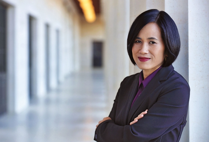 A photo portrait of May Ha Duong '00