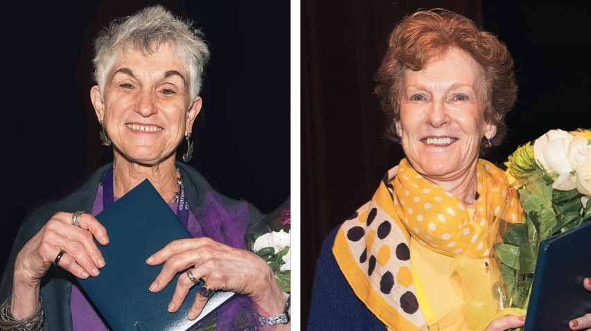 Karen Capriles Hodges '62 and Katherine Stone Kaufmann '67