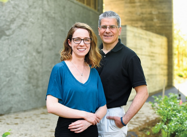 A photo of Rachael Coombes and Tony DiPesa of Library and Technology Services