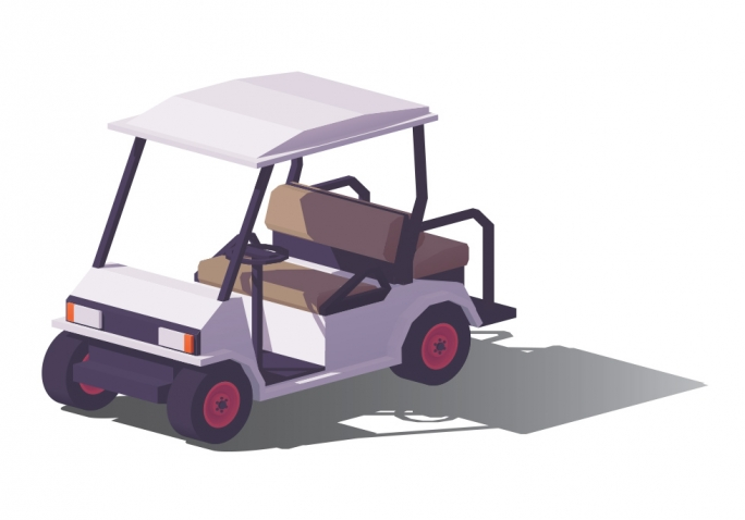 Illustration of a golf cart