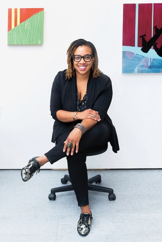 Portrait of Alexandria Smith, assistant professor of studio art