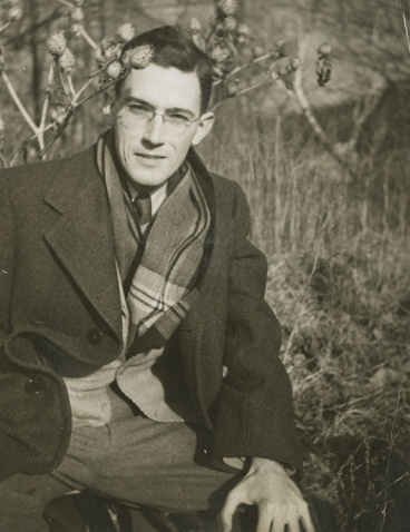 A photo of Professor Beverly Layman as a young man.