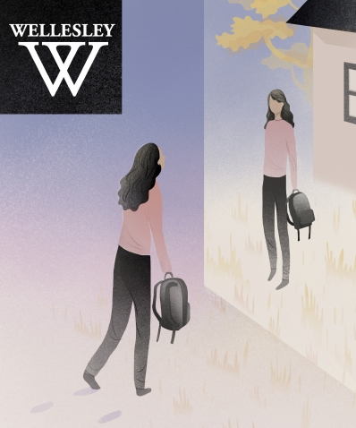 Cover of the winter 2018 issue of Wellesley magazine