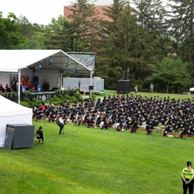 Overview of the students at commencement 2021