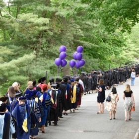 Faculty procesing during Commencement 2018