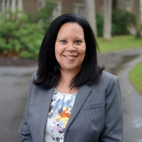 Portrait of Sheilah Shaw Horton, Wellesley's new dean of students,