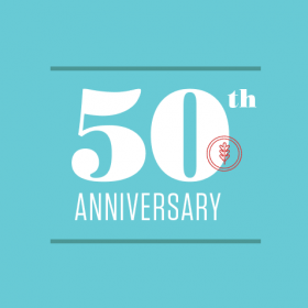 Graphic for 50th Anniversary of Alumnae Achievement Awards