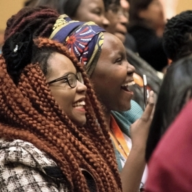 Students in the audience at the African Women's Leadership Conference