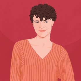An illustration of Rebecca Darling