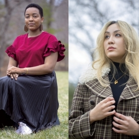 Karen Alvarez Julian '21, Matilda Berke '21, and Jenna Hua '22