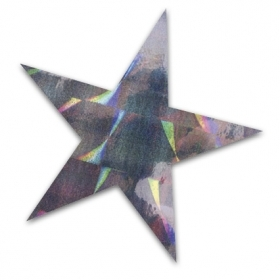 An image of a shimmering star sticker