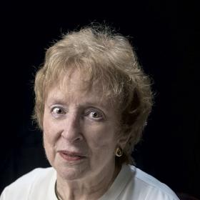 A photo portrait of Elizabeth Brenner Drew '57