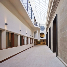 Empty interior of Clapp Library