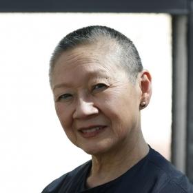 A head-and-shoulders portrait of Anna Kaku Nakada '59.