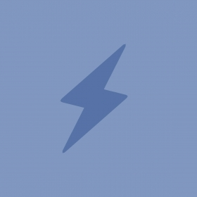 An illustration depicts a blue thunderbolt.